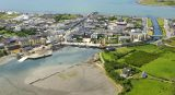 Drone shot of Belmullet, Mayo.